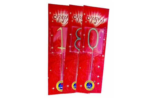PS6041 Number Shape Sparkler